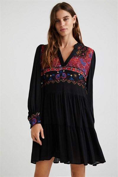 šaty Desigual Solsona negro