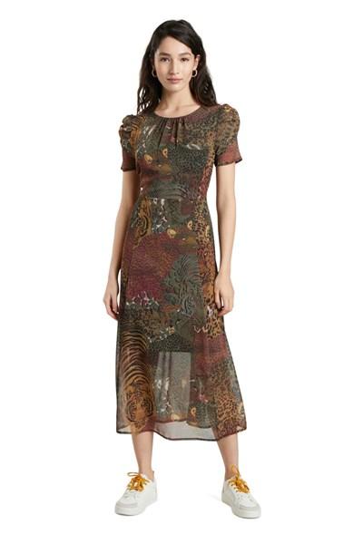 šaty Desigual Salomon kaki