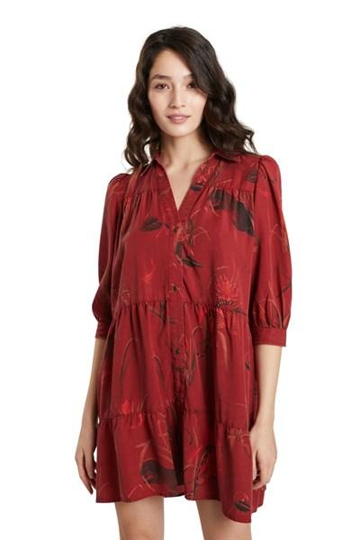 šaty Desigual Sevilla borgona