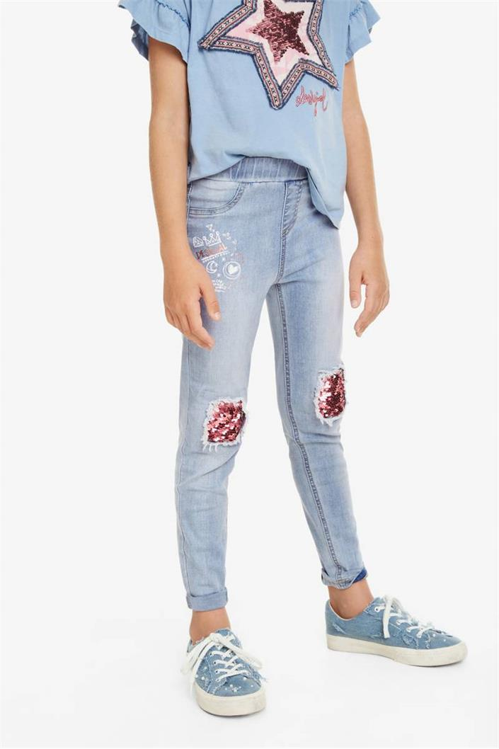 kalhoty Desigual Perez denim light wash