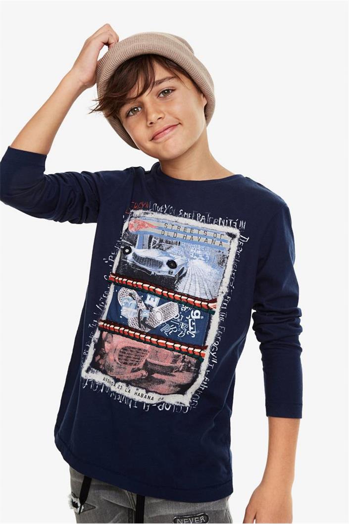 tričko Desigual Oskar navy