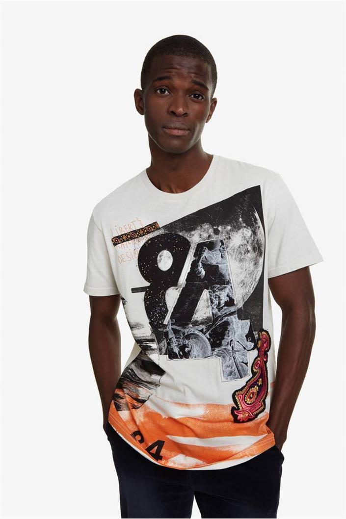 tričko Desigual Ter blanco