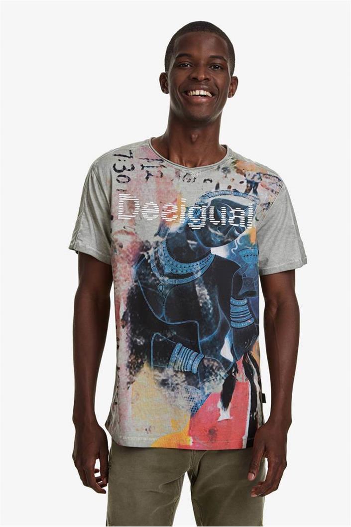 tričko Desigual Eugenio ceniza