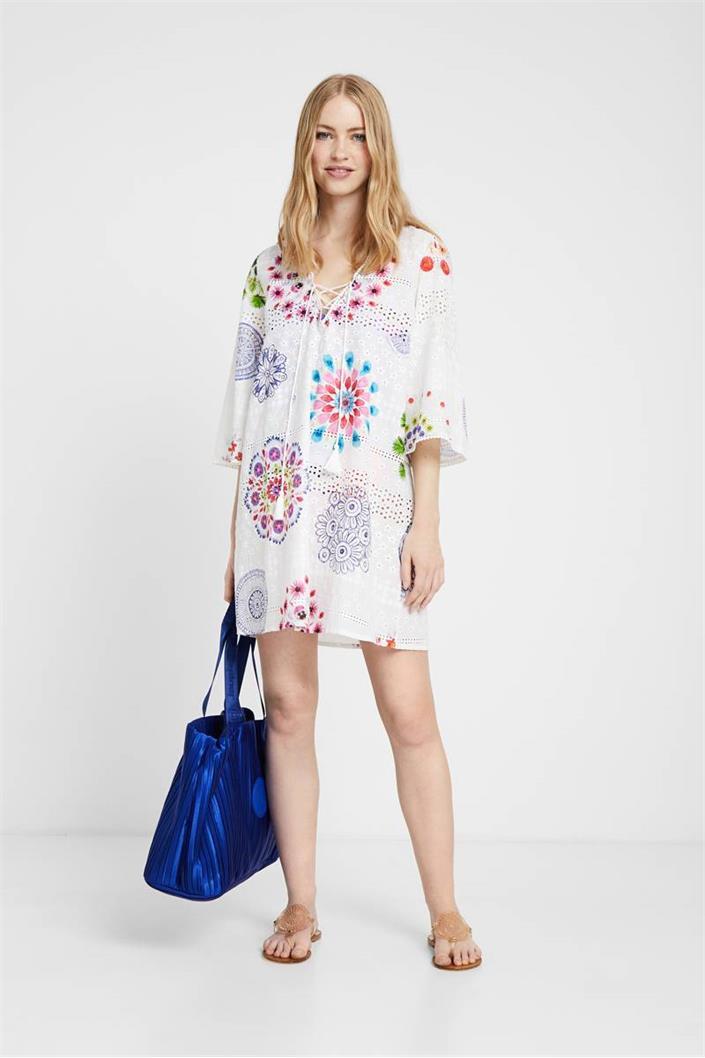 šaty Desigual Whitsunday blanco