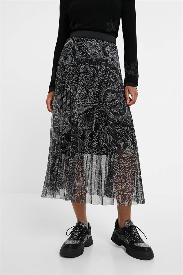 sukně Desigual Fabiola negro