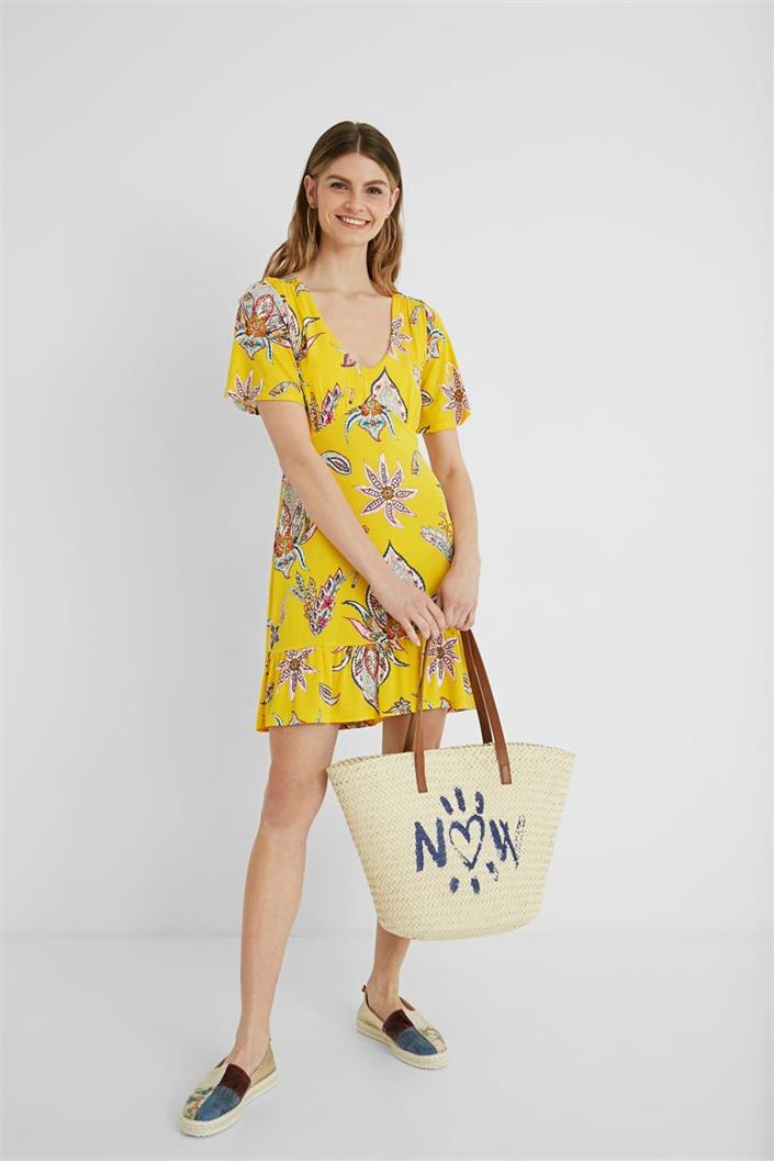 šaty Desigual Lemark amarillo canario