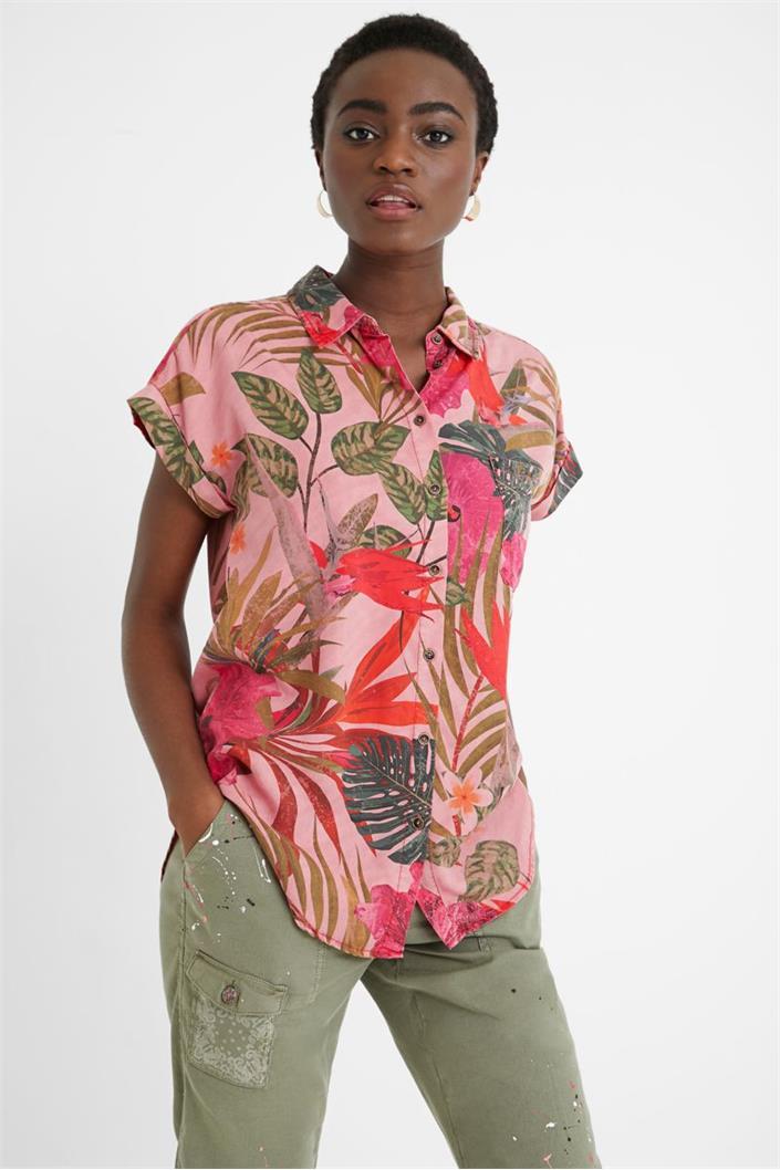 košile Desigual Rous rosa