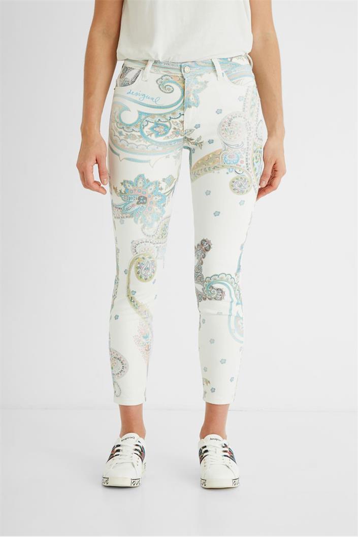 kalhoty Desigual Canton blanco