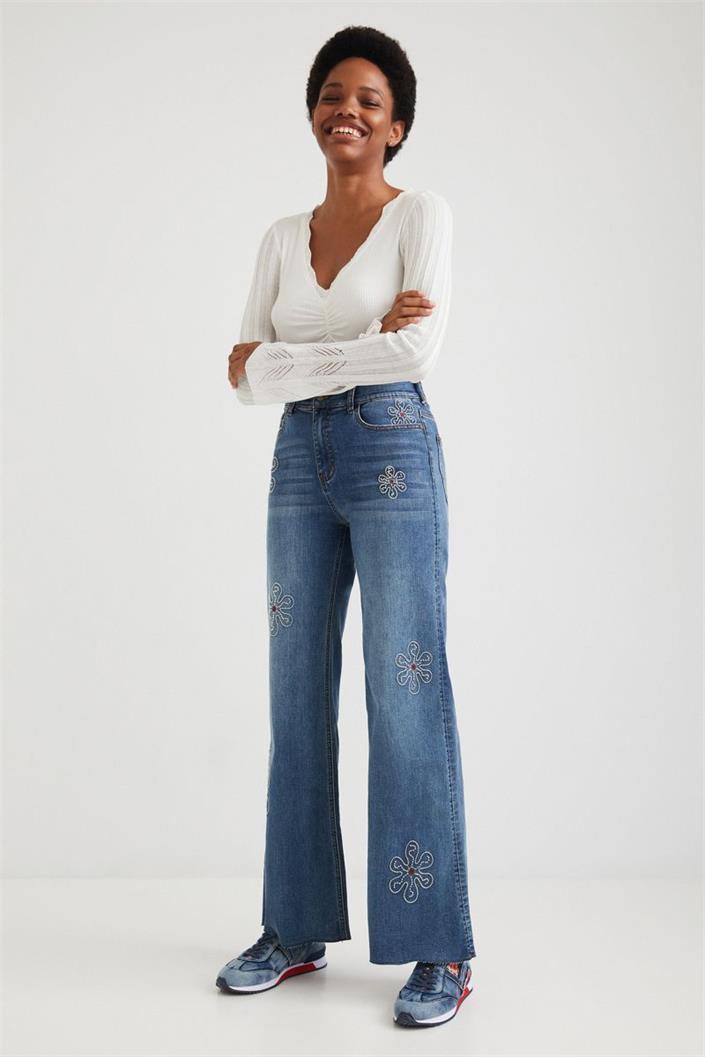 jeansy Desigual Oh My denim medium dark