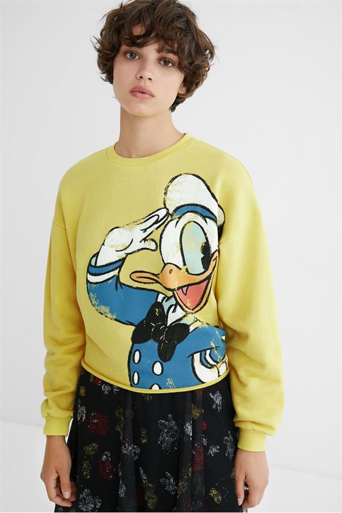 mikina Desigual El Pato Donald mostaza