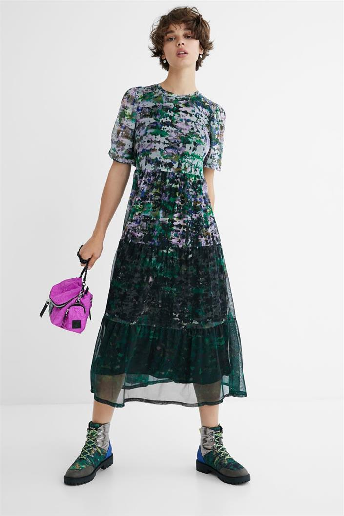 šaty Desigual Perugia negro