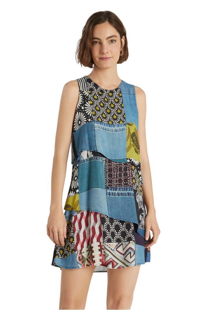 šaty Desigual Alejandria gris azulado