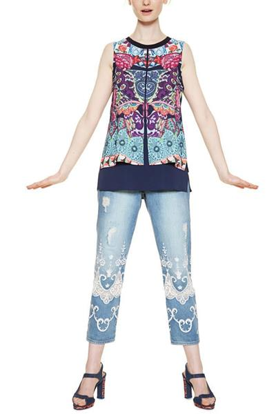 blúzka Desigual Blus Magic navy