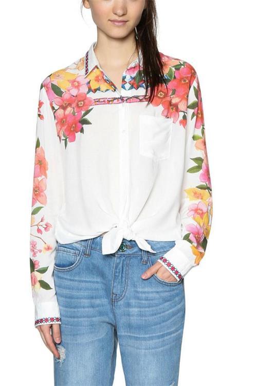 košeľa Desigual Laurene blanco