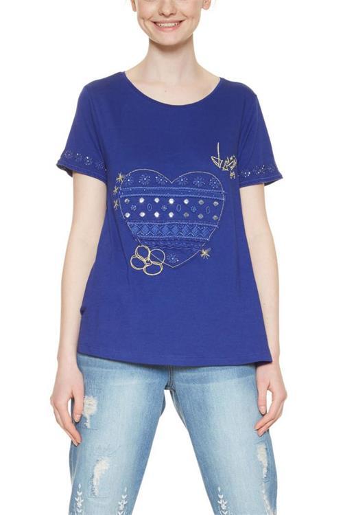 tričko Desigual Artemis spectrum blue