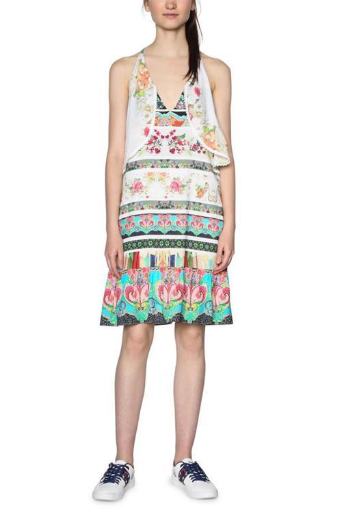 šaty Desigual Kilian blanco