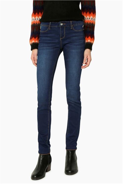jeansy Desigual Second skin denim medium dark