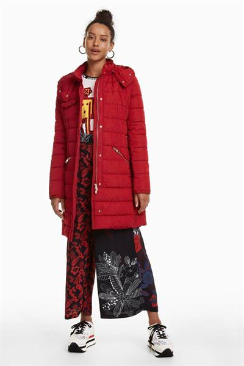 kabát Desigual Pisa borgona