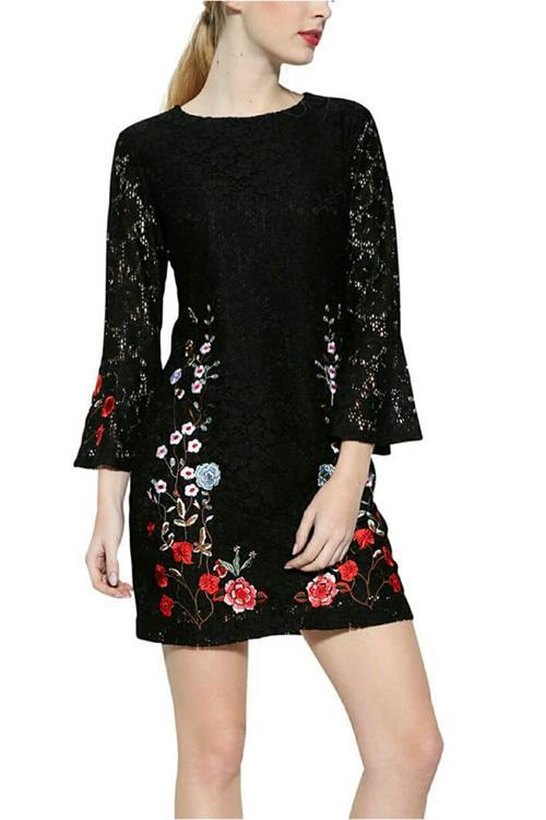 šaty Desigual Vermont negro