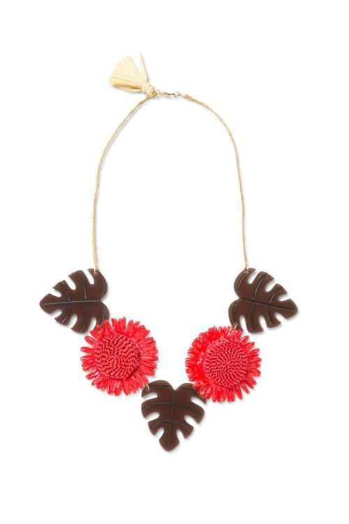 náhrdelník Desigual Collar Malibú rojo sangre