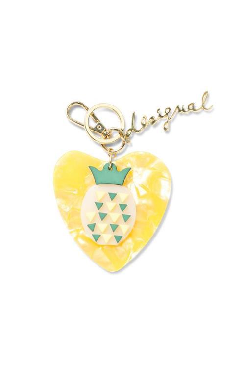 přívěsek Desigual Collar Pineapple amarillo