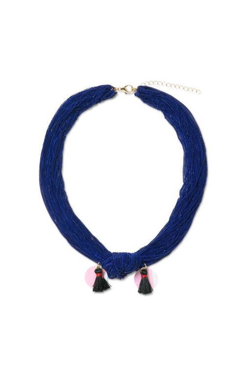 náhrdelník Desigual Collar Akra azul palo