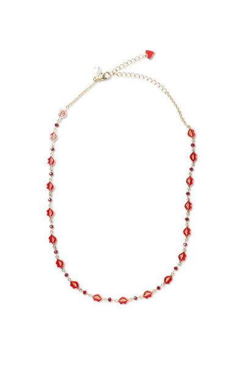 náhrdelník Desigual Collar Big Ideas rojo fresa