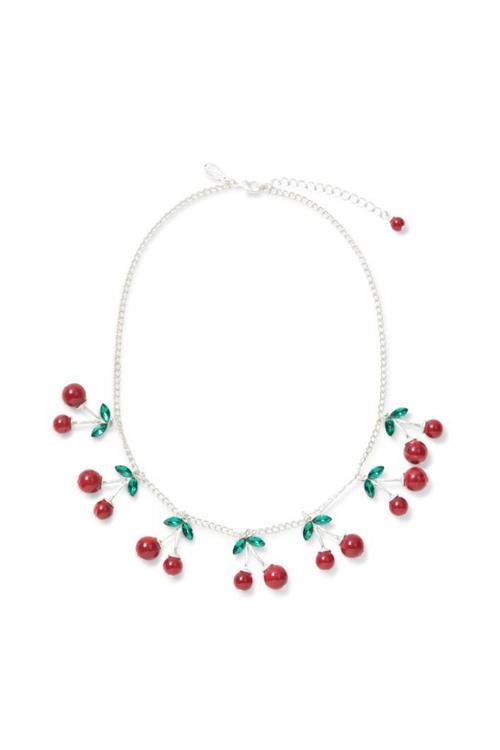 náhrdelník Desigual Necklace Cherry rojo fresa