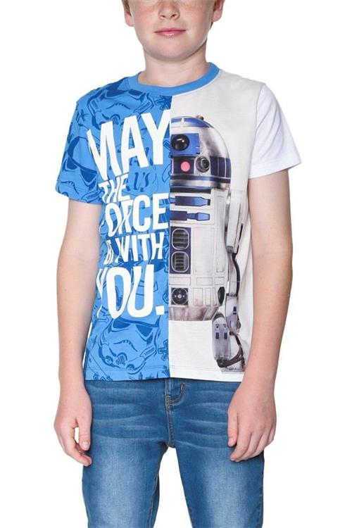 tričko Desigual Droide azul cielo