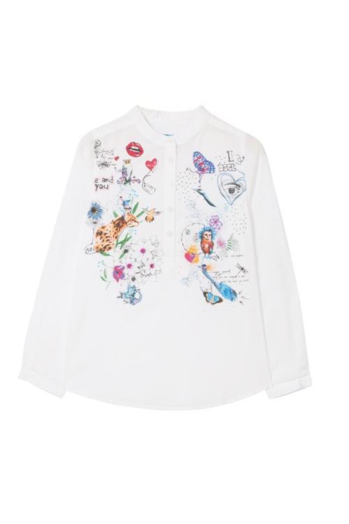 košeľa Desigual Rebeca blanco