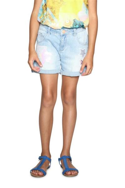 šortky Desigual Denim Buend denim light wash