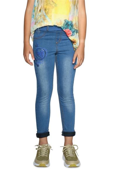 džínsy Desigual Denim Guaya denim light wash