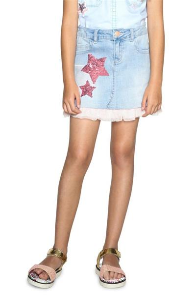 sukně Desigual Fal Granoll denim light wash