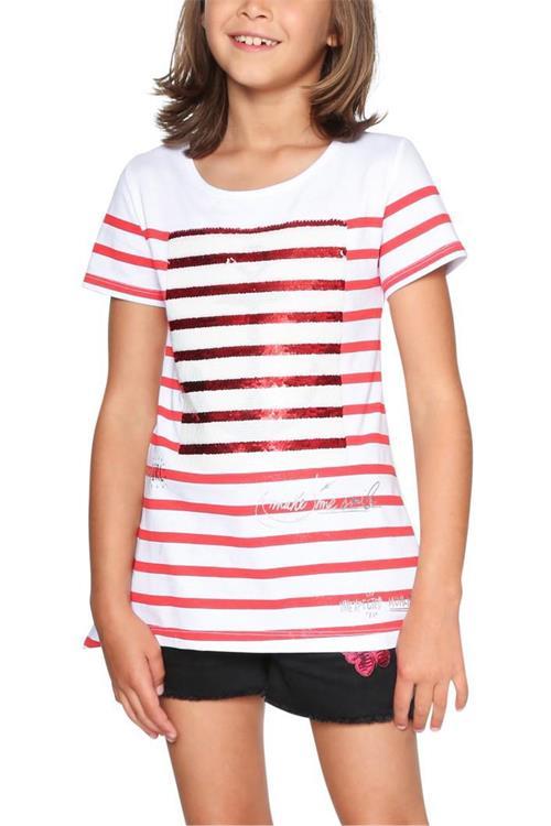 tričko Desigual Maryland rojo