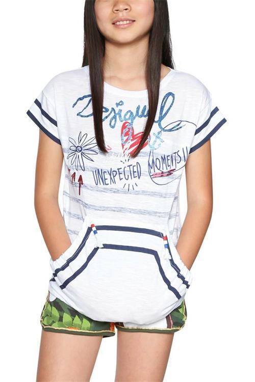 tričko Desigual Edmonton blanco