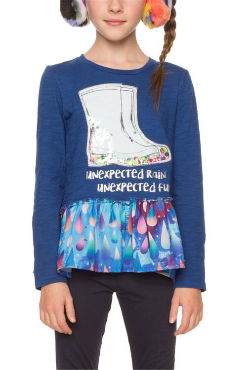tričko Desigual Boots estate blue