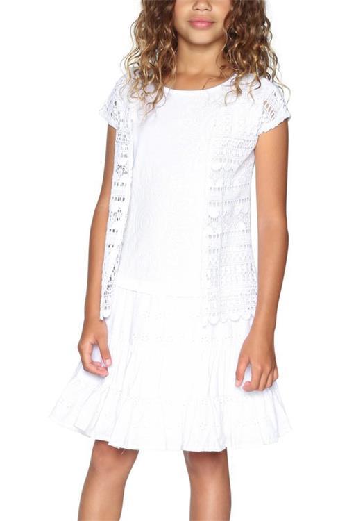 šaty Desigual Birmingham blanco