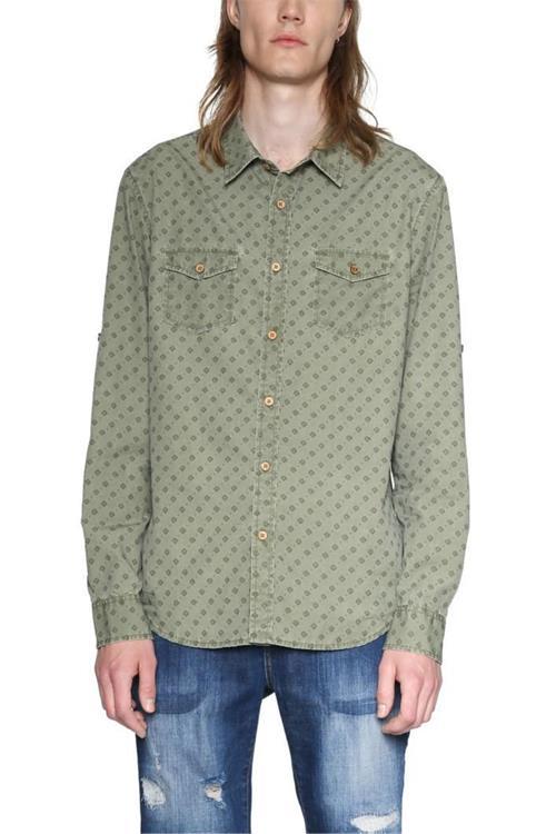 košeľa Desigual Nicholas willow green