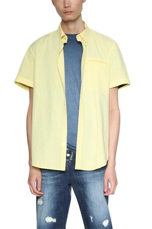 košeľa Desigual Scott dusky citron
