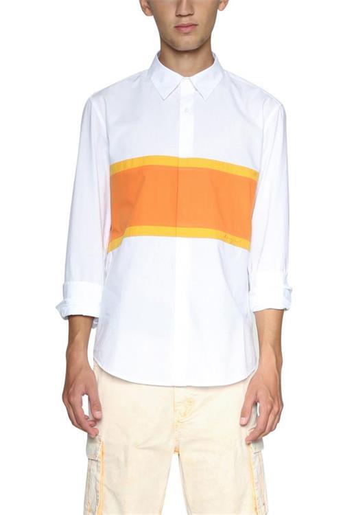 košeľa Desigual Gerald naranja