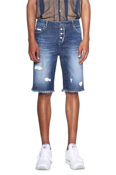 šortky Desigual Bastia denim medium wash