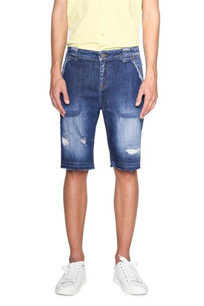 šortky Desigual Julio denim medium wash