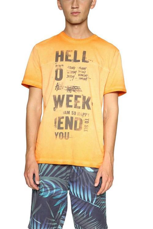 tričko Desigual Zachary guayabo