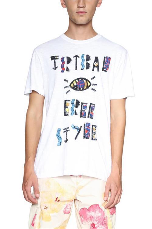 tričko Desigual Ales blanco