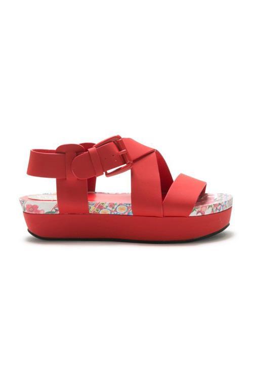 sandály Desigual Gemini Microra rojo roja