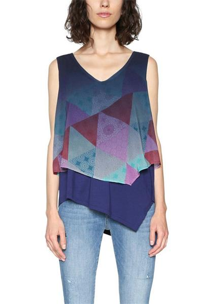 tričko Desigual Blus Club De Blues navy