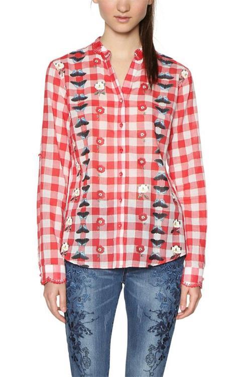 košile Desigual Adara carmin