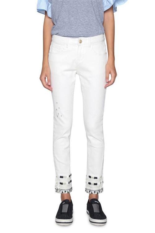 jeansy Desigual Denim Luna jeans white