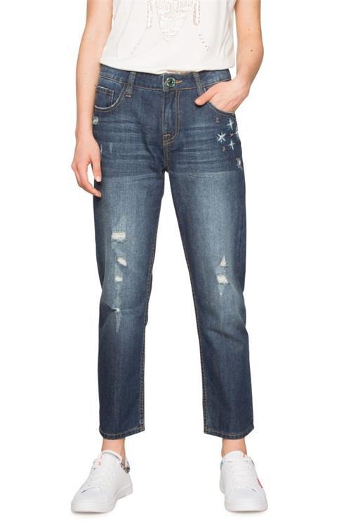 jeansy Desigual Denim Mai denim dark blue