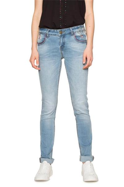 džínsy Desigual Maite denim medium wash